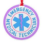 EMT Logo Pastel Round Ornament