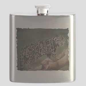 Clouded Leopard Pastel Drawing Flask