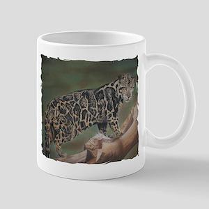 Clouded Leopard Pastel Drawing Mug