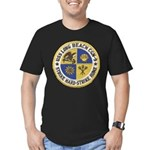 USS LONG BEACH Men's Fitted T-Shirt (dark)