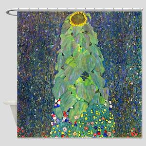 Klimt - The Sunflower Shower Curtain