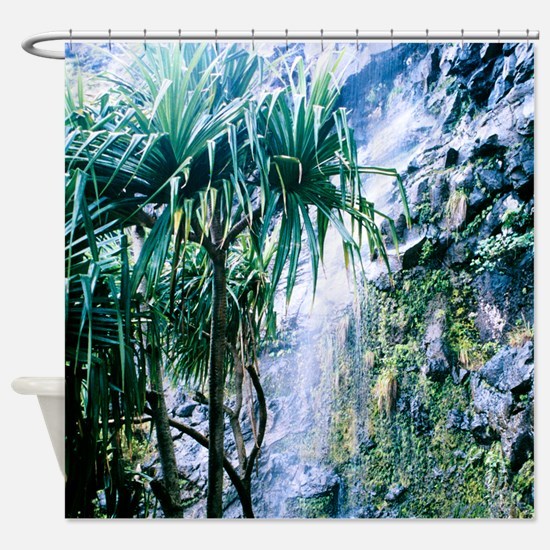 Kalalau Trail Waterfall Shower Curtain