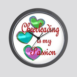 Cheerleading Passion Wall Clock