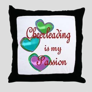 Cheerleading Passion Throw Pillow
