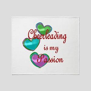 Cheerleading Passion Throw Blanket