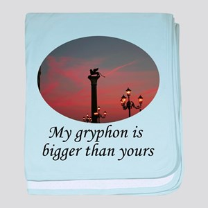 My grphyon is bigger than yours baby blanket