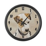 Parson Jack Russell Terrier Large Wall Clock