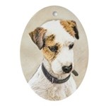 Parson Jack Russell Terrier Oval Ornament