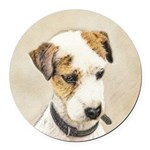 Parson Jack Russell Terrier Round Car Magnet