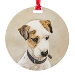 Parson Jack Russell Terrier Round Ornament