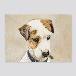 Parson Jack Russell Terrier 5'x7'Area Rug