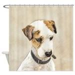 Parson Jack Russell Terrier Shower Curtain