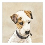 Parson Jack Russell Terr Square Car Magnet 3