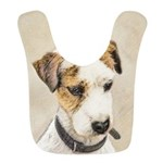 Parson Jack Russell Terrier Polyester Baby Bib