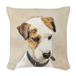 Parson Jack Russell Terrier Woven Throw Pillow