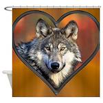 Wolf Heart Shower Curtain
