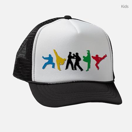 Tae Kwon Do Kicks Kids Trucker Hat
