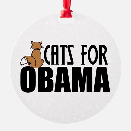 Cats for Obama Ornament