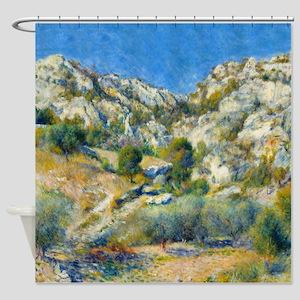 Renoir - Rocky Craggs Shower Curtain