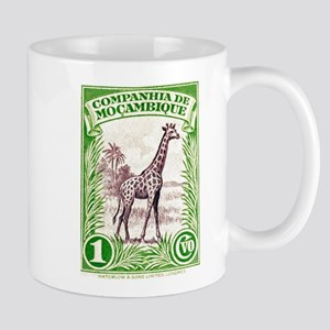 Mozambique Giraffe 1937 African Postage Stamp Mug