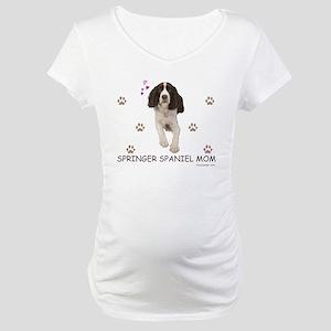 Springer Spaniel Mom Maternity T-Shirt
