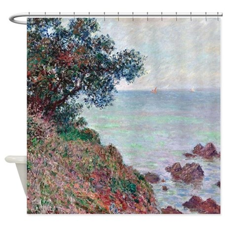Claude Monet Mediterranean Coast Shower Curtain By Iloveyou1