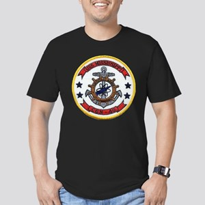 USS MISSISSIPPI Men's Fitted T-Shirt (dark)