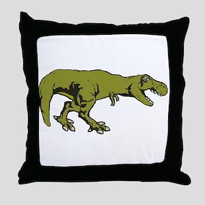 T rex 4 Throw Pillow