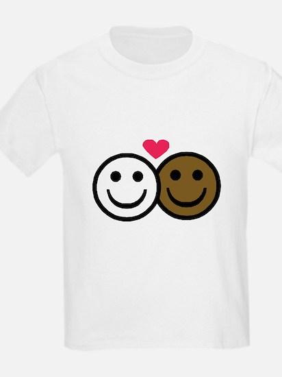 Interracial Love Kids T-Shirt