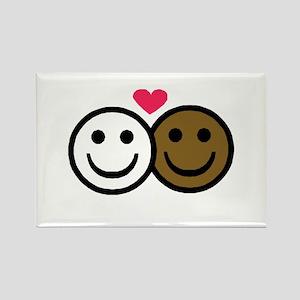 Interracial Love Rectangle Magnet