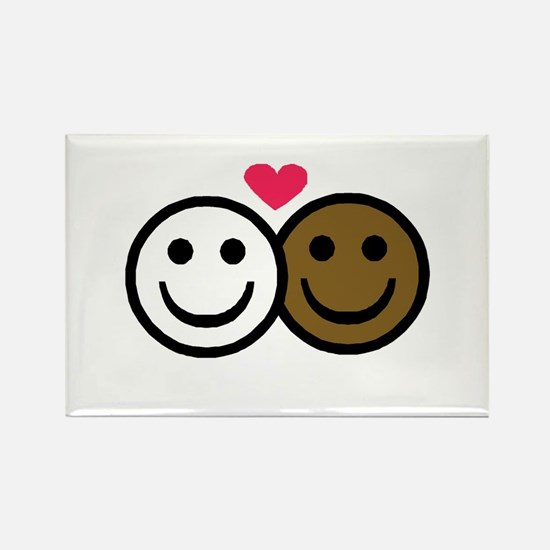 Interracial Love Rectangle Magnet