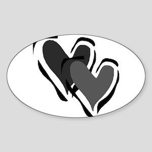 Interracial Love Oval Sticker