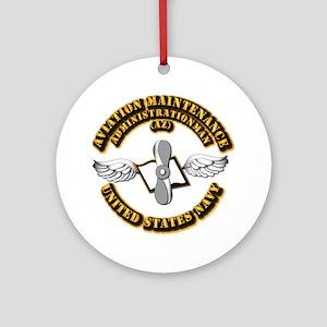 Navy - Rate - AZ Ornament (Round)
