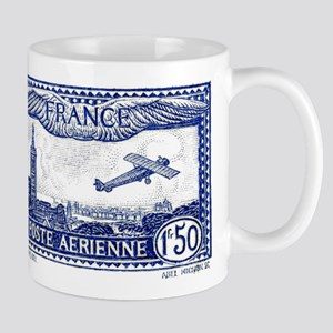 French 1930 Airmail Postage Stamp Mug