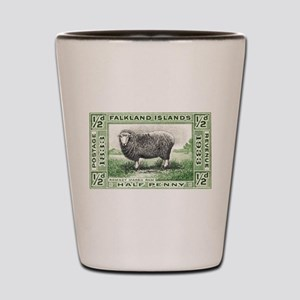 Falkland Islands Ram Postage Stamp Shot Glass