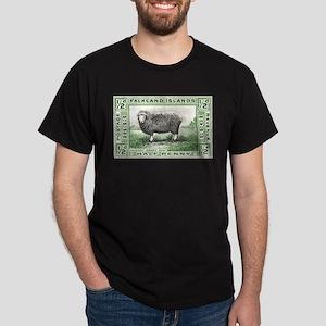 Falkland Islands Ram Postage Stamp Dark T-Shirt