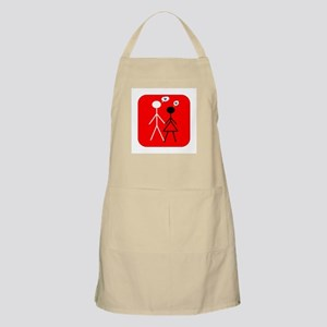 Interracial Love BBQ Apron