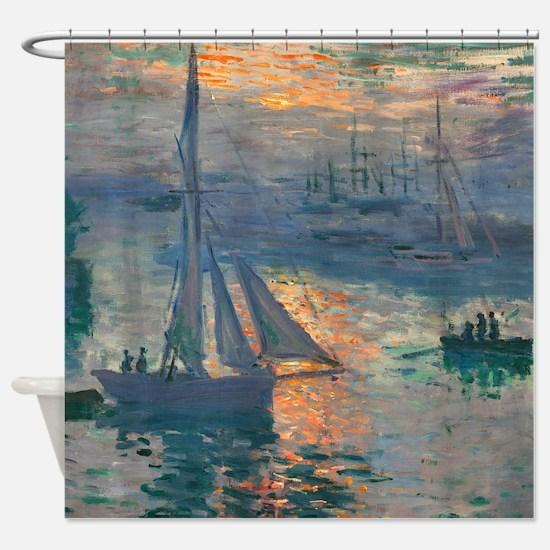 Monet - Sunrise Marine Shower Curtain