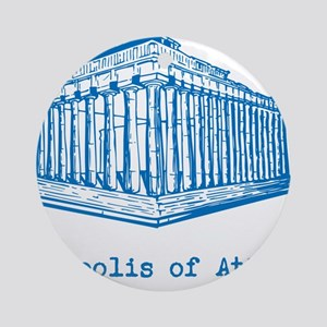 Acropolis of Athens Ornament (Round)