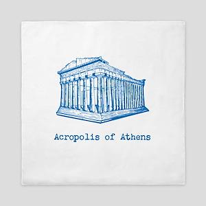 Acropolis of Athens Queen Duvet