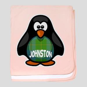 Johnston Tartan Penguin baby blanket