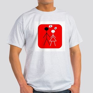 Interracial Love Ash Grey T-Shirt