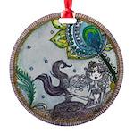 Mermaids by Lee Round Ornament