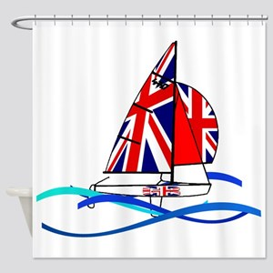 GBR British 470 Class Sailors Shower Curtain