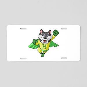 Husky Aluminum License Plate