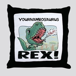 Little T Rex Throw Pillow