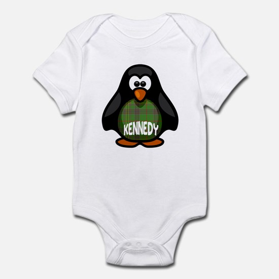Kennedy Tartan Penguin Infant Bodysuit