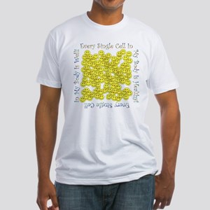 Single Hlthy Cells(Plain Back) Fitted T-Shirt