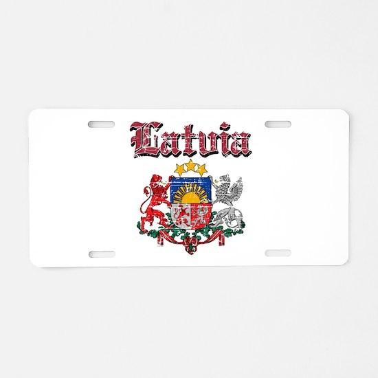 Latvia Coat of arms Aluminum License Plate