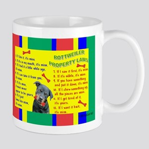 Property Laws -Mug -Rottweiler Mugs